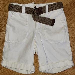 Old Navy Toddler Boy's Twill Shorts w/Belt NWOT